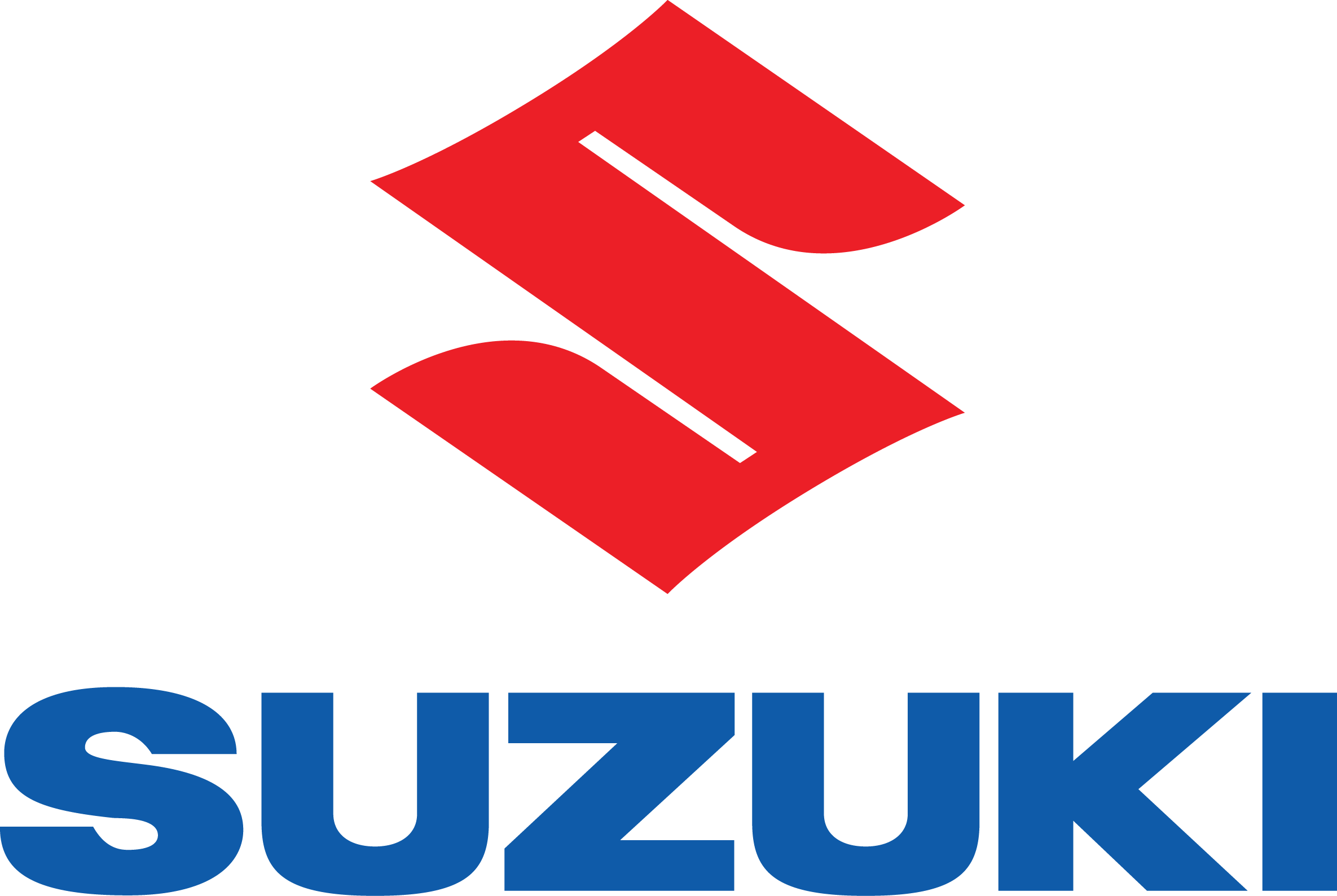 Blue and Red Suzuki Logo